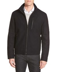 Michael Kors | Black Zip Front Jacket for Men | Lyst