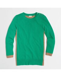 J.Crew - Green Colorblock Elbow Patch Sweater - Lyst