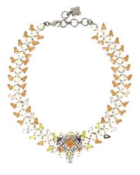 BCBGMAXAZRIA | Pink Geometric Multi-Stone Collar Necklace | Lyst