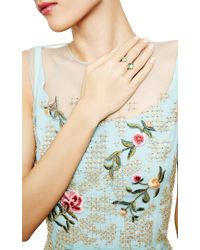 Larkspur & Hawk - Green Bella Open Ring - Lyst