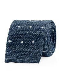 Hackett | Blue Mayfair Knitted Dot Tie for Men | Lyst