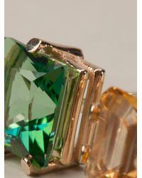 Delfina Delettrez - Multicolor Triple Stones Ring - Lyst