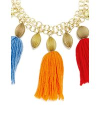 Stella Jean | Multicolor Lansing Pom Pom Necklace | Lyst