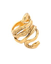Aurelie Bidermann Metallic Mamba Ring