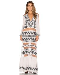 For Love & Lemons - Pink Niccola Maxi Dress - Lyst