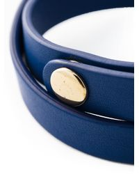 Ferragamo | Blue Vara Bow Wrap Around Bracelet | Lyst