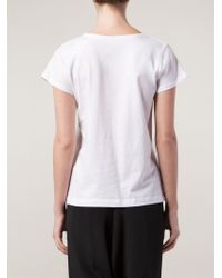 Jasmin Shokrian White Graphic T-shirt