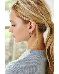 Urban Outfitters - Black Nic Gem Hoop Earring - Lyst