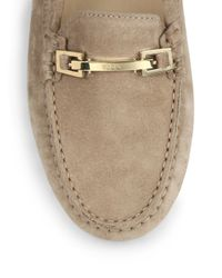 Tod's Brown Gommini Double T Suede Drivers for men