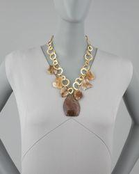 Devon Leigh - Metallic Rainbow Jasper & Citrine Necklace - Lyst