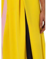 ROKSANDA Yellow Stripe-detail Crepe Dress
