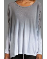 Saint Grace Saint Omega Oversized Top in Gray
