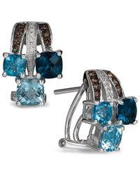 Le Vian | Blue Topaz (2-9/10 Ct. T.w.) And Diamond (1/6 Ct. T.w.) Earrings In 14k White Gold | Lyst