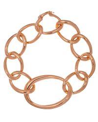 Dinny Hall - Pink Rose Gold Vermeil Toro Link Bracelet - Lyst