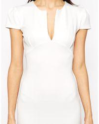 Club L - Natural Essentials Short Scuba Pam Bodycon Dress - Lyst