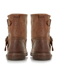 Dune - Brown Peddley Washed Leather Ankle Boots - Lyst