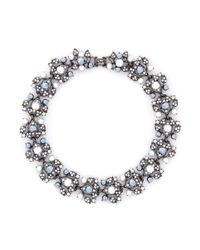 Kenneth Jay Lane | Metallic Resin Pearl And Crystal Embellished Vine Necklace | Lyst