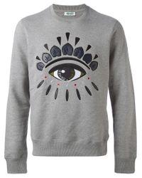 KENZO - Gray 'eye' Sweatshirt for Men - Lyst
