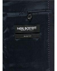 Neil Barrett Blue Virgin Wool Blend Suit for men