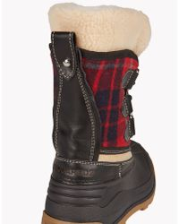DSquared² | Red Plaid Snow Boots for Men | Lyst