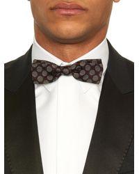 Dolce & Gabbana - Purple Spot-Jacquard Bow Tie for Men - Lyst
