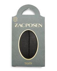 Zac Zac Posen | Black Sheer Control Top Tights | Lyst