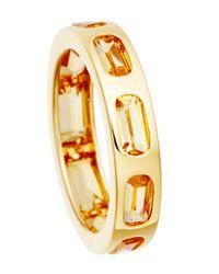 Astley Clarke - Metallic Gold-plated Citrine Prismic Slice Ring - Lyst
