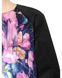 MSGM Pink Floral Printed Duchesse Top
