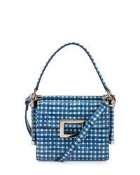 Roger Vivier - Blue Miss Viv Carre Mini Gingham-Print Shoulder Bag - Lyst