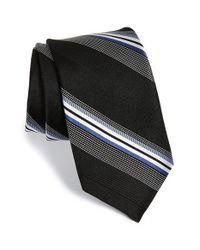 Michael Kors Black 'dudley' Stripe Silk Tie for men