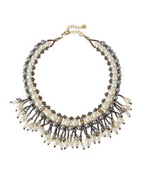 Nakamol | Metallic Pearly Fringe Bib Necklace | Lyst