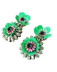 Shourouk - Flower Green Earrings - Lyst