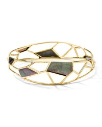 Ippolita | Metallic 18k Mosaic Black Shell Bangle | Lyst