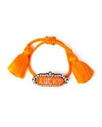 Shourouk Orange Athena Beaded Bracelet
