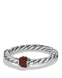 David Yurman | Red Osetra Bracelet With Garnet And 18k Gold | Lyst