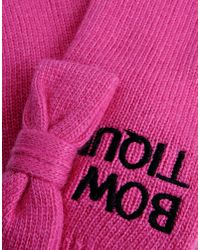 Boutique Moschino | Pink Gloves | Lyst