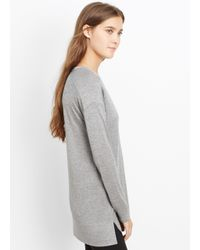 VINCE | Gray Mouline Knit Drop Shoulder Top | Lyst