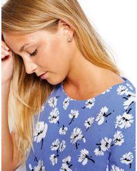 Orelia - Blue Horseshoe Stud Earrings - Lyst