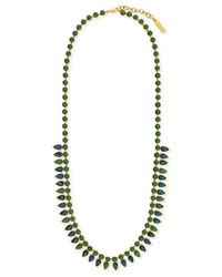 Vince Camuto - Green Gold-Tone Opal Stone Long Necklace - Lyst