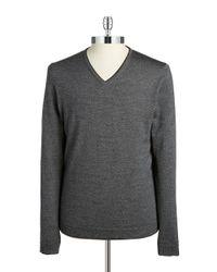 Strellson | Gray Slim-fit Merino Wool Sweater for Men | Lyst