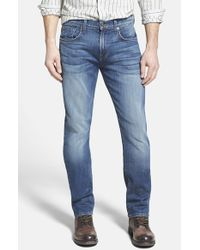 7 For All Mankind | Blue 'the Straight - Luxe Performance' Tapered Straight Leg Jeans for Men | Lyst