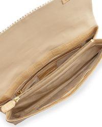 Nancy Gonzalez - Brown Crocodile & Woven Horse Hair Clutch Bag - Lyst
