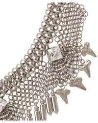 DANNIJO Metallic Silver-Plated Crystal Langley Necklace