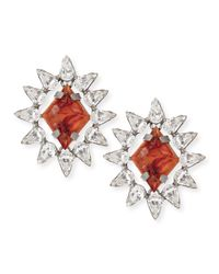 DANNIJO - Red Neva Crystal Stud Earrings - Lyst