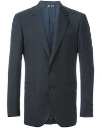 Lanvin - Blue Houndstooth Print Blazer for Men - Lyst