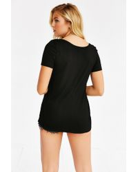 Truly Madly Deeply - Black Mandi Scoopneck Tee - Lyst