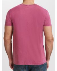BOSS Orange Pink Townley Acid Wash Tshirt for men