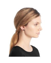COACH - Metallic Cushion Cut Stud Earrings - Lyst
