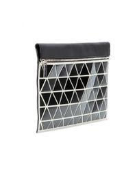 Victoria Beckham | Black Large Zip Leather Clutch | Lyst
