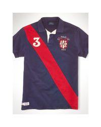 Ralph Lauren - Blue Classic-fit Banner Polo Shirt for Men - Lyst